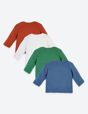 4'lü Organik Pamuklu T-Shirt Seti