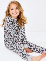 Leopar Desenli Pijama Takımı