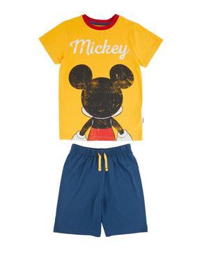 Çocuk Sarı Mickey Mouse™ Pijama Takımı