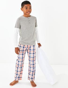 2'li Ekose Pijama Takımı