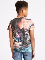 Pamuklu Dinazor Desenli T-shirt