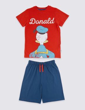 Çocuk Kırmızı Donald Duck Pijama Takımı