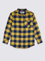 Erkek Çocuk Multi Renk Saf Pamuklu Ekose Gömlek
