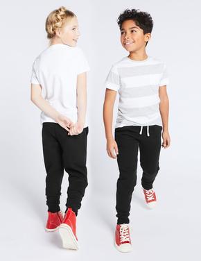 Erkek Çocuk Siyah Unisex Pamuklu Jogger Pantolon