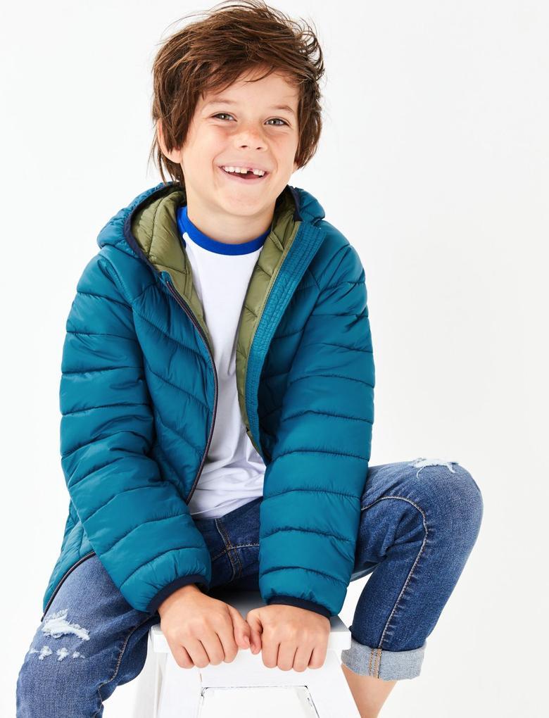 Erkek Çocuk Mavi Dolgulu Mont