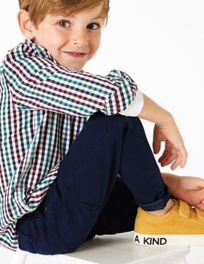 Erkek Çocuk Lacivert Renkli Jean Pantolon