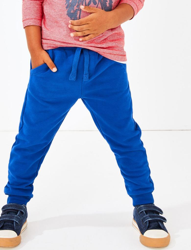 Erkek Çocuk Lacivert Pamuklu Jogger Pantolon