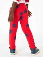 Pamuklu Yıldız Baskılı Jogger Pantolon