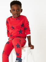 Pamuklu Yıldız Baskılı Sweatshirt