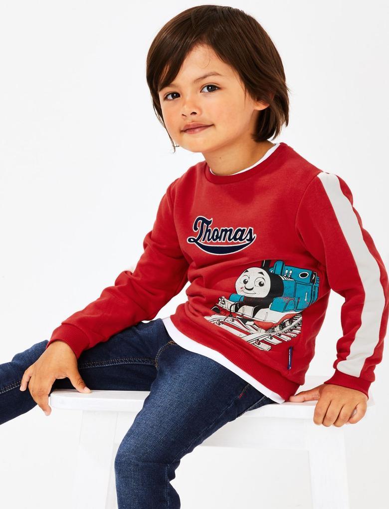Erkek Çocuk Kırmızı Thomas & Friends™ Sweatshirt