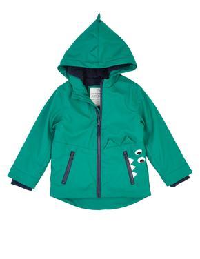 Erkek Çocuk Yeşil Kapüşonlu Yağmurluk