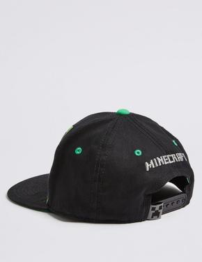 Çocuk Gri Minecraft™ Saf Pamuklu Şapka