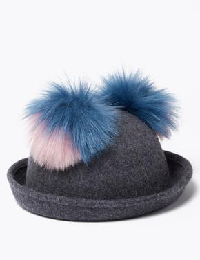 Ponponlu Yünlü Şapka