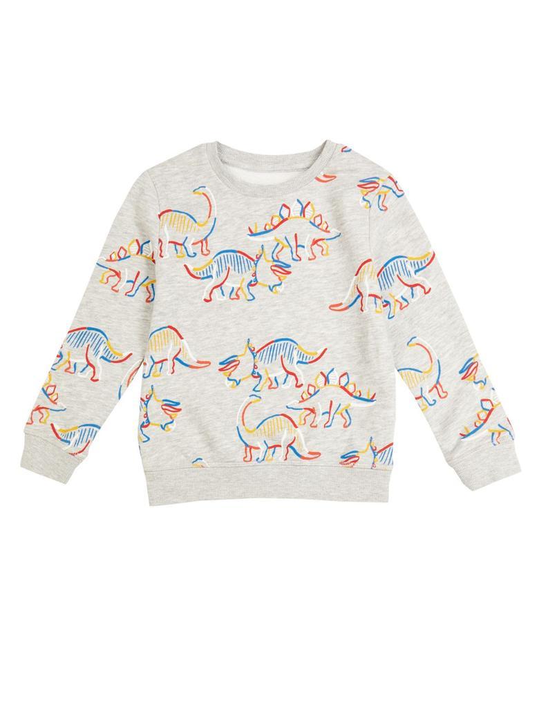 Pamuklu Dinazor Baskılı Sweatshirt