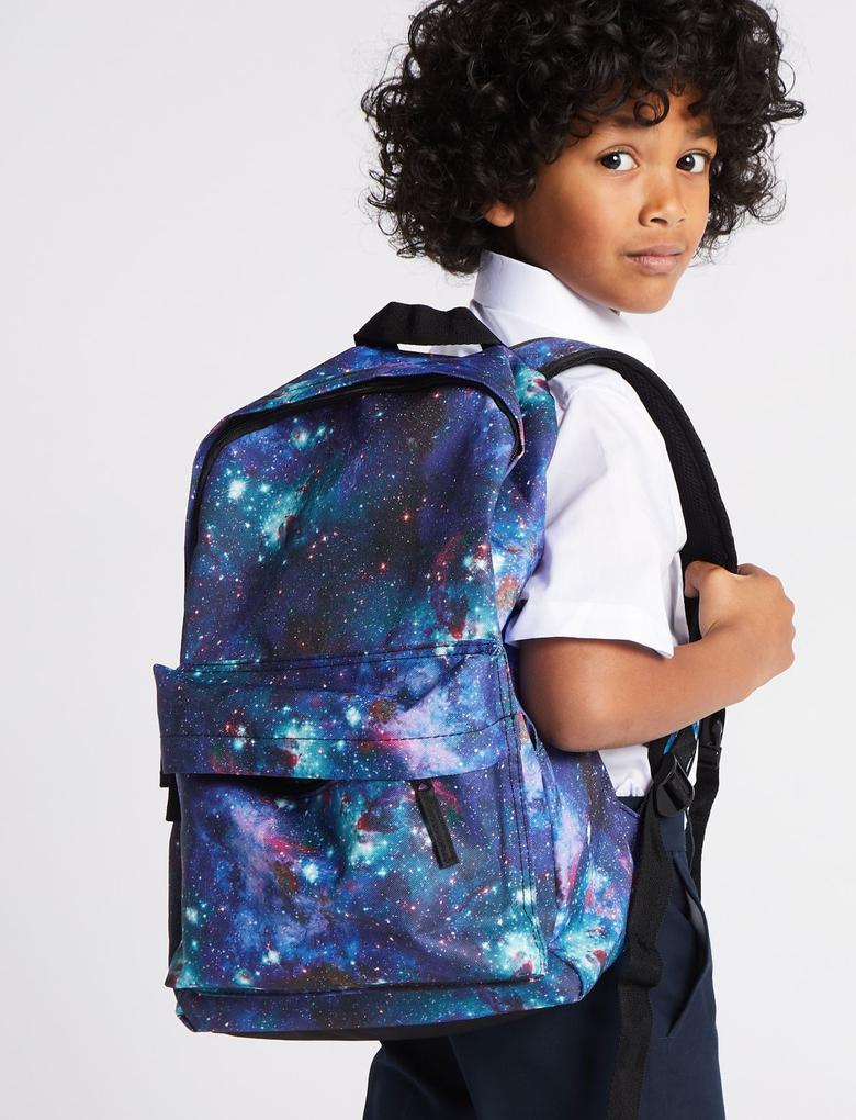 Erkek Çocuk Siyah Uzay Temalı Sırt Çantası