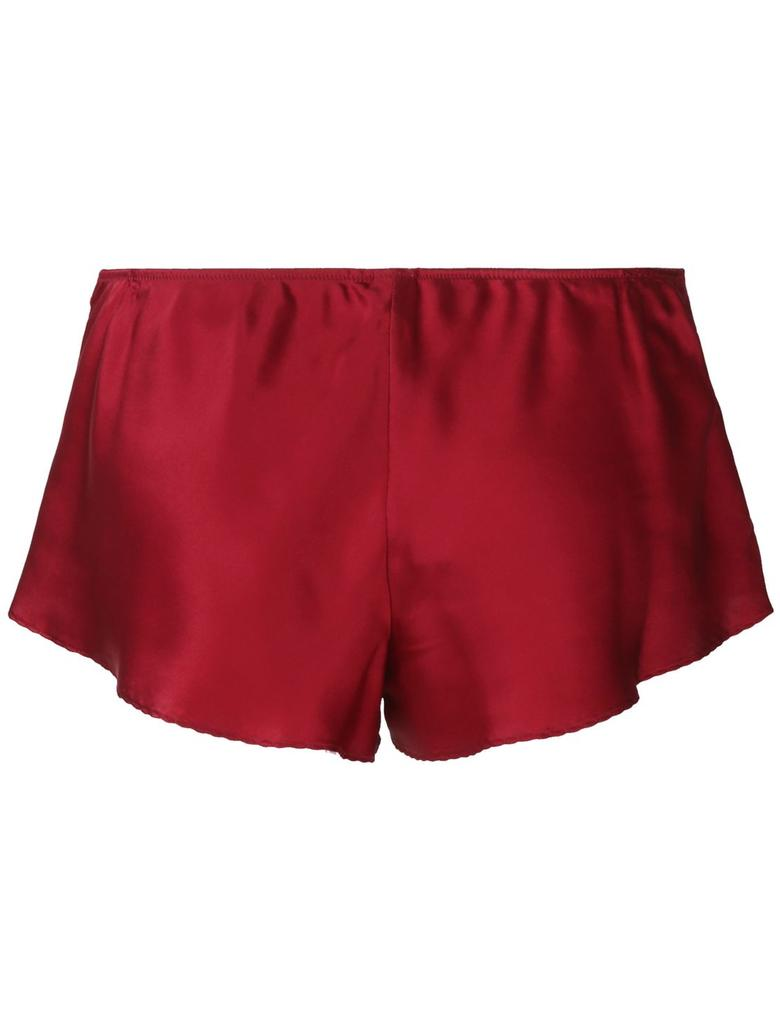 Kırmızı İpek ve Dantelli Fransız Short Külot