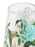 Ev Yeşil Çiçek Desenli Vazo