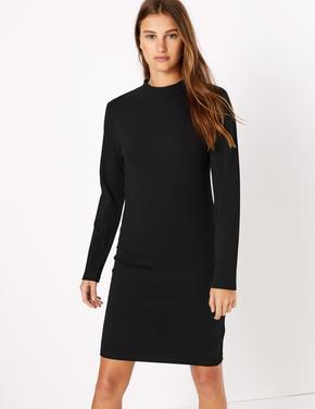 Uzun Kollu Shift Elbise