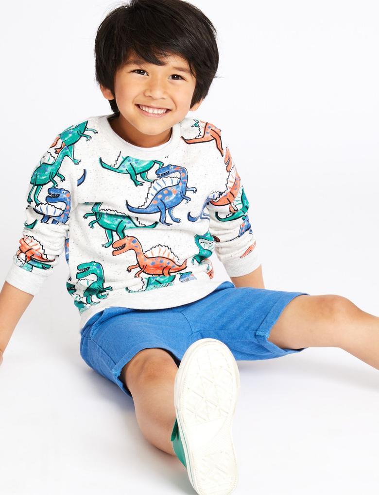 Erkek Çocuk Multi Renk Desenli Sweatshirt