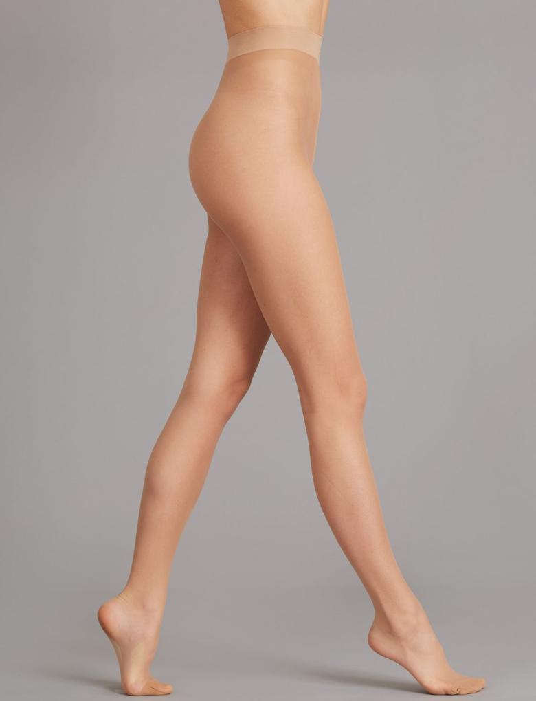 Kadın Kahverengi 2'li 10 Denye Kaçmaya Dayanıklı Mat Külotlu Çorap