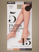 Siyah 5'li 15 Denye Mat Pantolon Çorabı