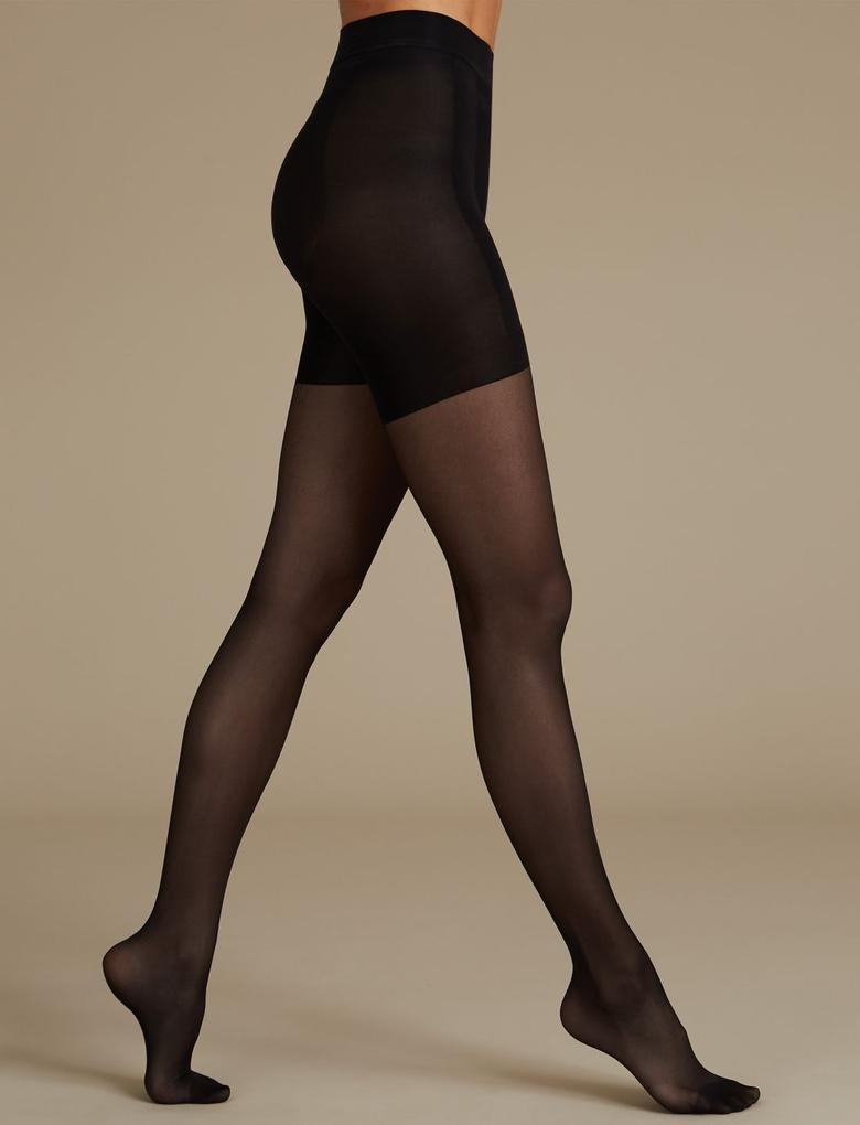 Kadın Siyah 15 Denye Secret Slimming Toparlayıcı Özellikli Külotlu Çorap
