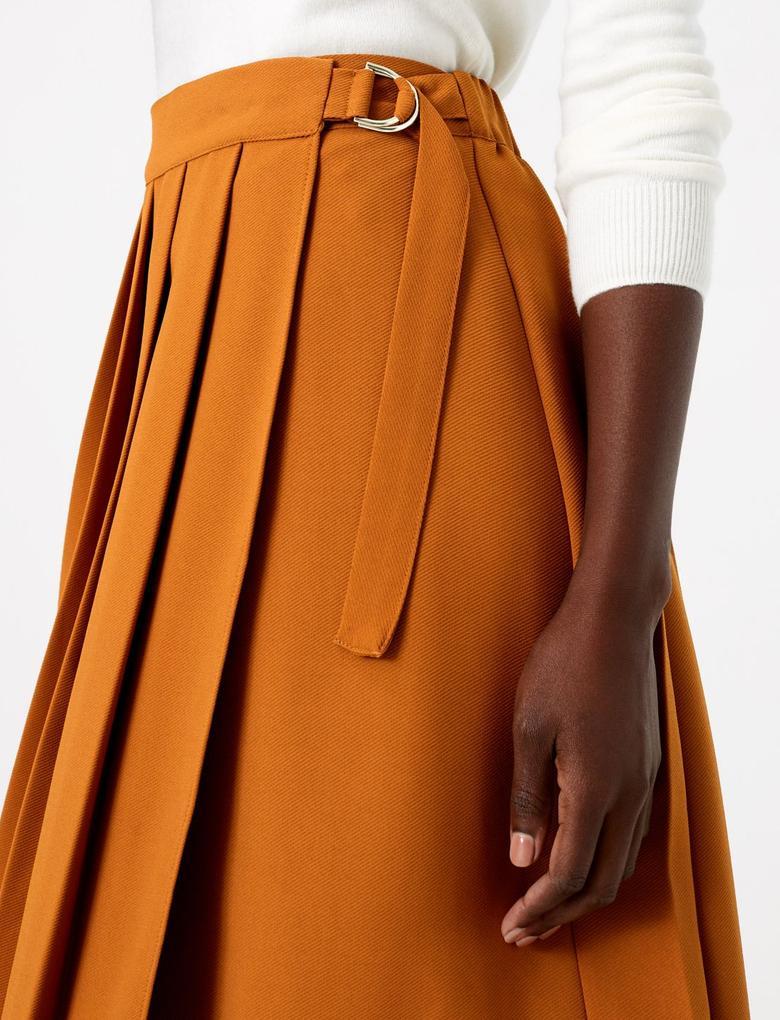 Kadın Kahverengi Kilt Etek
