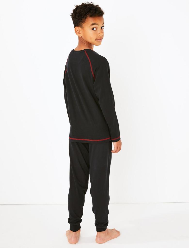 Çocuk Siyah Star Wars Pijama Takımı