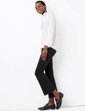 Siyah Kickflare Pantolon