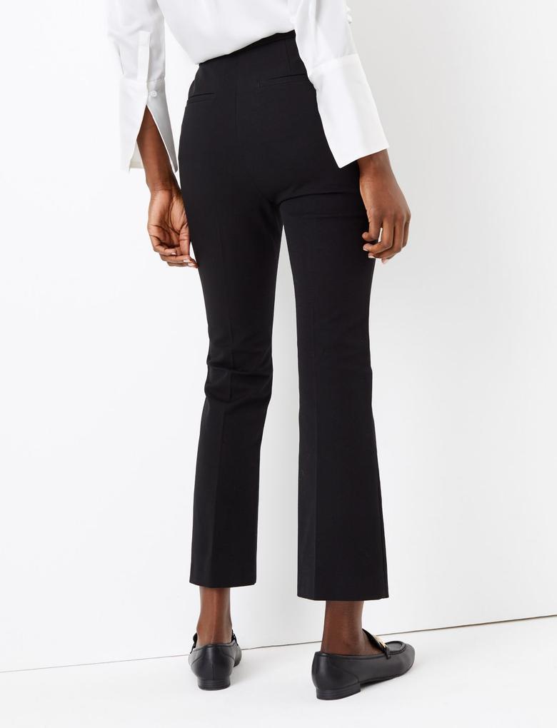 Kadın Siyah Kickflare Pantolon
