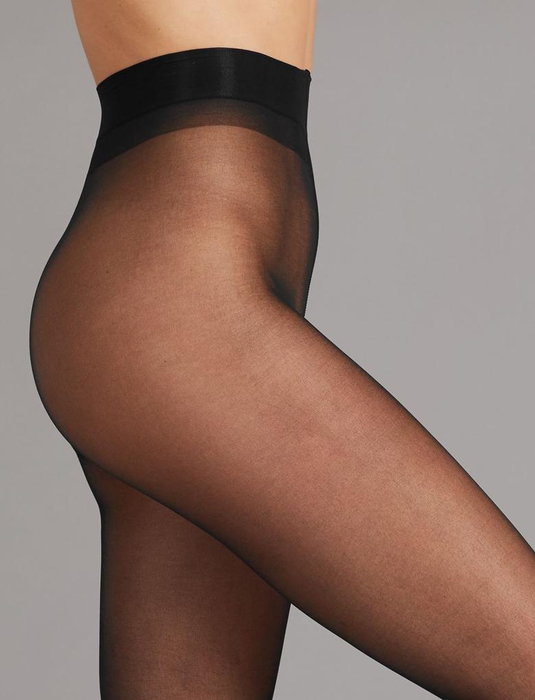 Kadın Siyah 2'li 10 Denye Kaçmaya Dayanıklı Mat Külotlu Çorap