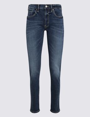 Multi Renk Eskitmeli Yıkamalı Slim Jean Pantolon
