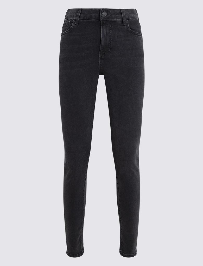 Kadın Siyah Skinny Fit Jean Pantolon