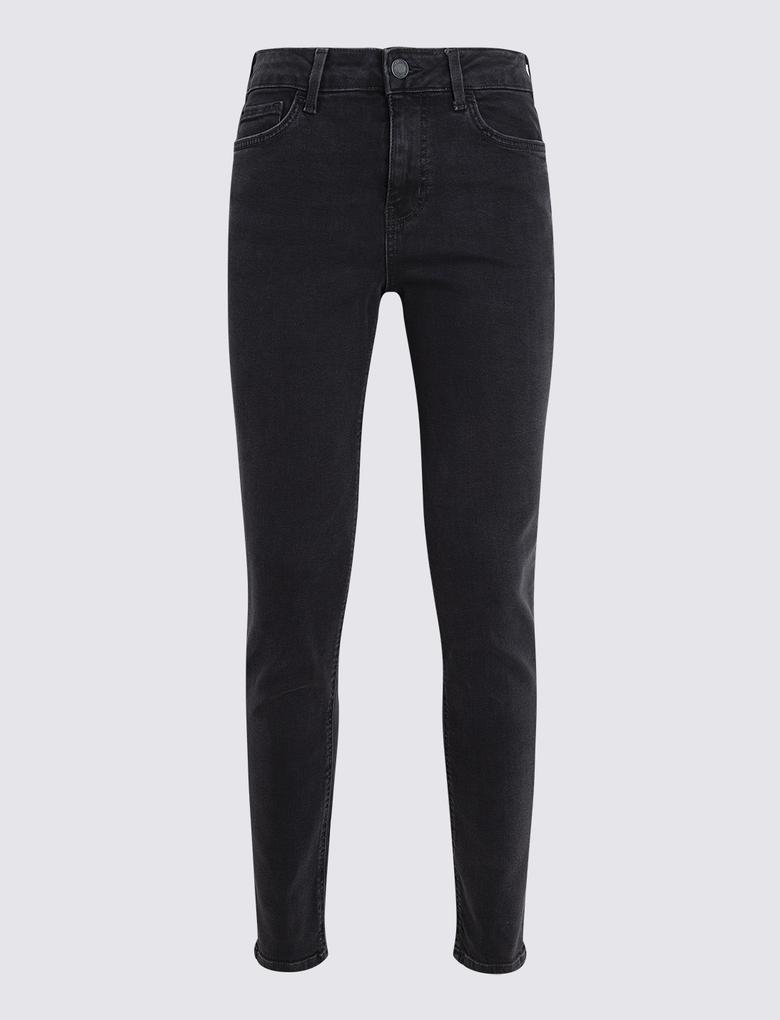 Kadın Siyah Slim Fit Jean Pantolon
