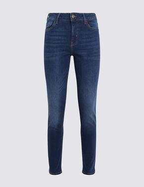 Lacivert Slim Fit Jean Pantolon
