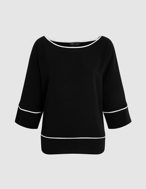 Kadın Siyah Kimono Bluz
