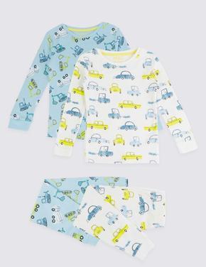 Çocuk Multi Renk 2'li Desenli Pijama Takımı