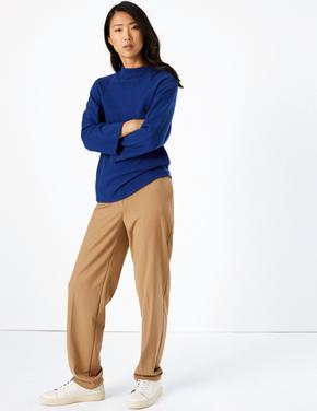 Kadın Mavi 3/4 Kollu Sweatshirt