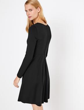 Kadın Siyah Fit & Flare Elbise