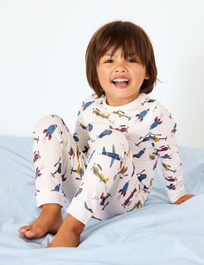 Uçaklı Pijama Takımı