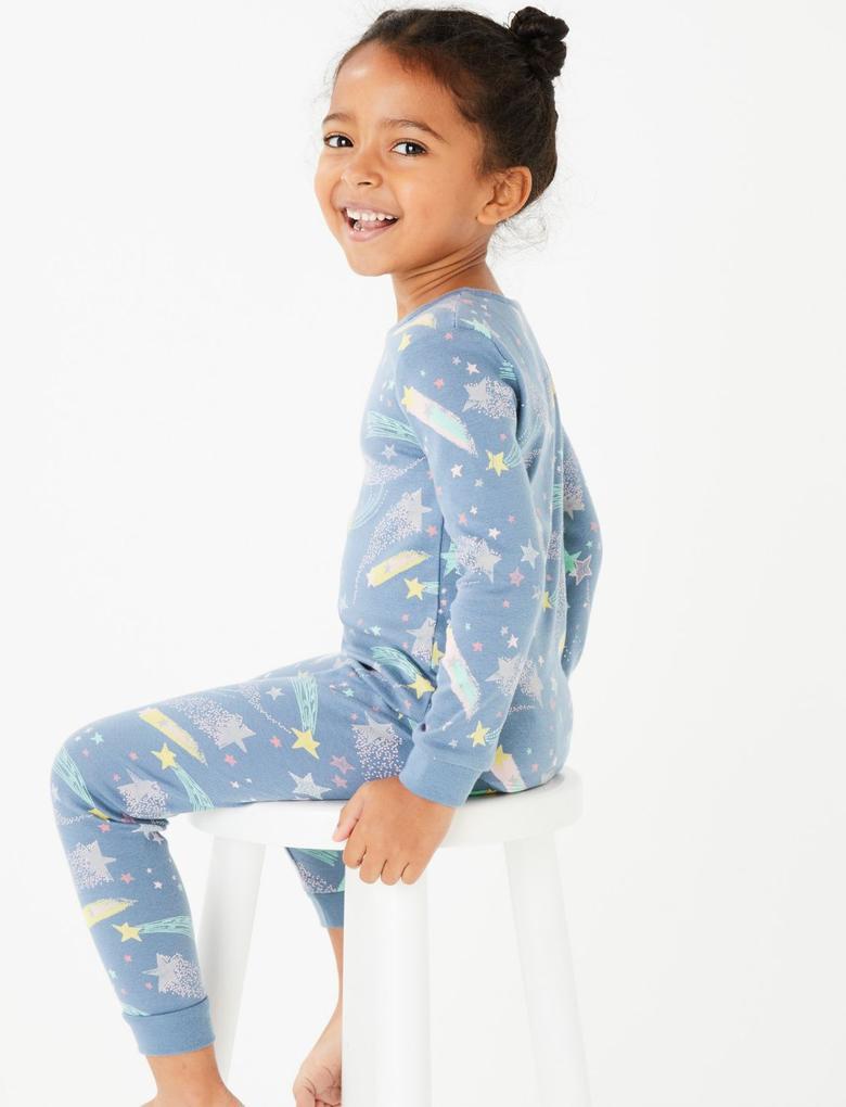 2'li Yıldızlı Pijama Seti