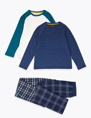 Koyu lacivert 2'li Raglan Pijama Seti