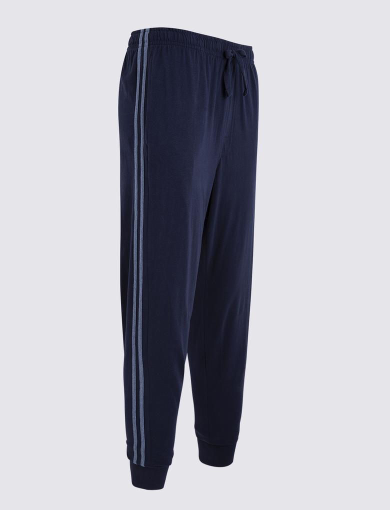 Saf Pamuklu Jogger Pijama Altı