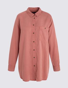 Uzun Kollu Tencel™ Gömlek
