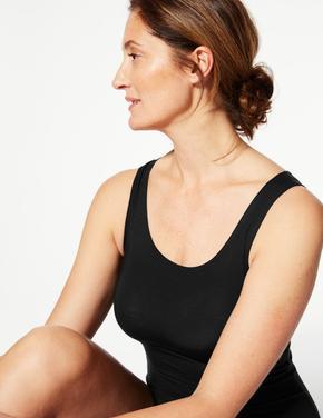 Kadın Siyah Heatgen™ Kalın Askılı Termal Atlet