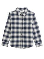 Uzun Kollu Kareli Gömlek