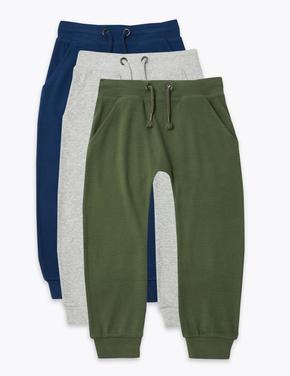 Erkek Çocuk Yeşil 3'lü Jogger Pantolon Seti