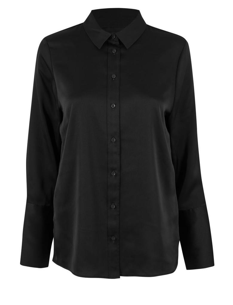 Saten Uzun Kollu Gömlek