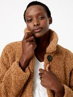 Kadın Kahverengi Suni Kürk Kaban