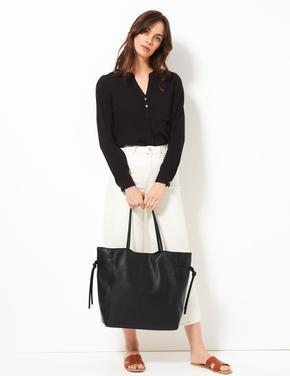Kadın Siyah Shopper Çanta